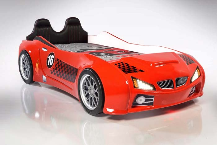 BMW M3 KIDS CAR BED with LEATHER SEATS and LED Lights