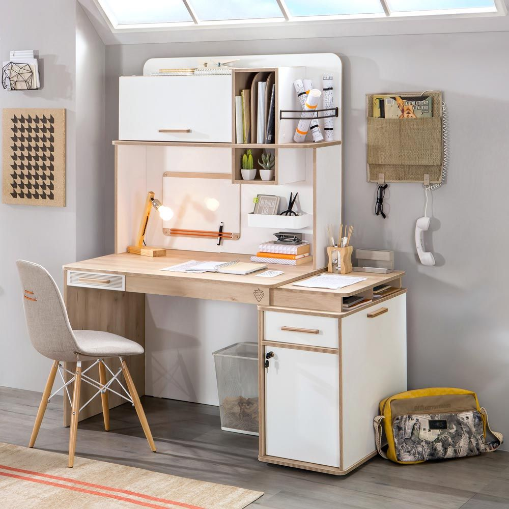 Kids Desk With Storage Teen Furniture For Organized Teen Study Space