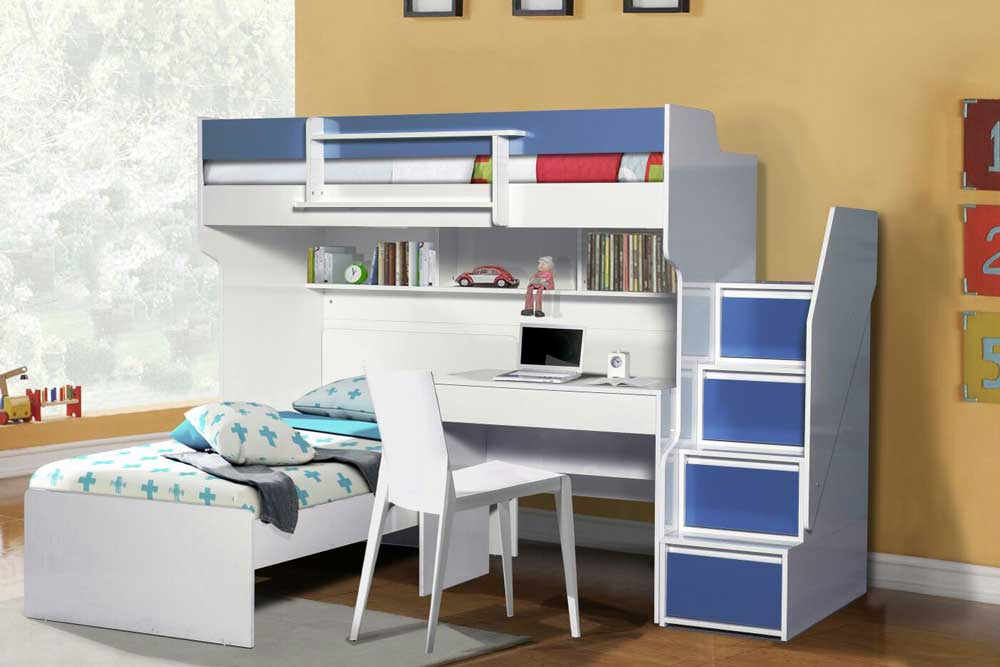 Brave High Sleeper Bed With Desk And Single Bed