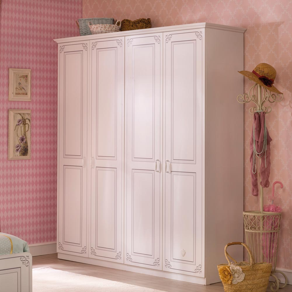 Stylish 4 Door Wardrobe