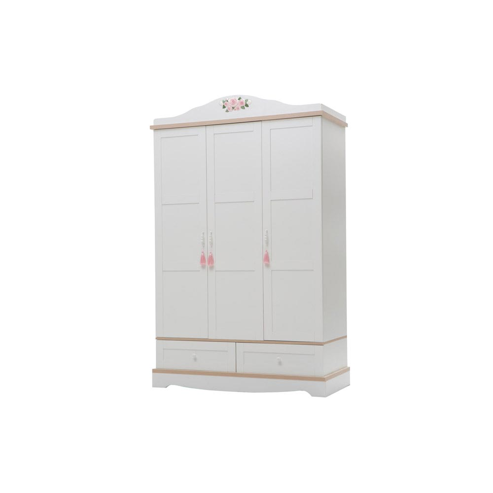 Laura Baby Contemporary Three Door Wardrobe