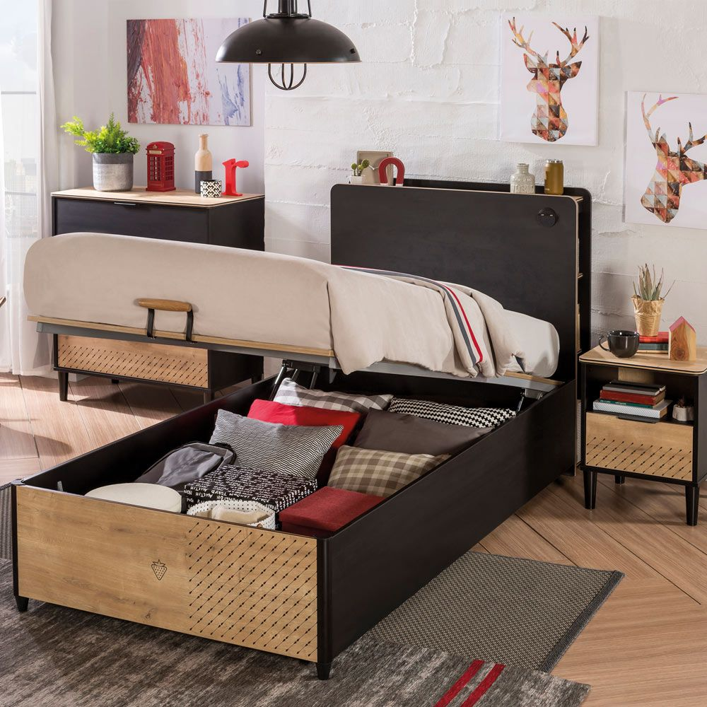 Smoothly designed storage bed