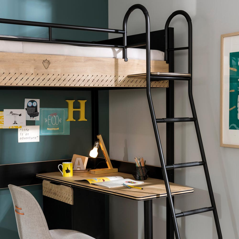 Compact High Sleeper With Desk
