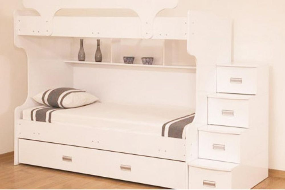 Bunk Bed With Stairs And A Trundle With Bedroom Aesthetics