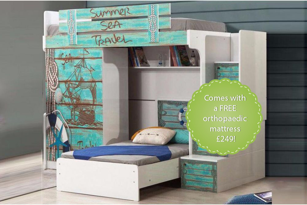 Summer Boys High Sleeper Bed