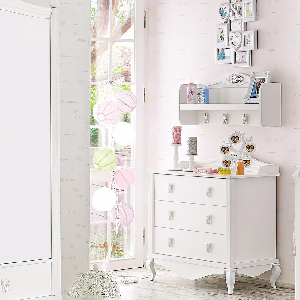 Jasmin Baby Contemporary White Chest Of Drawers