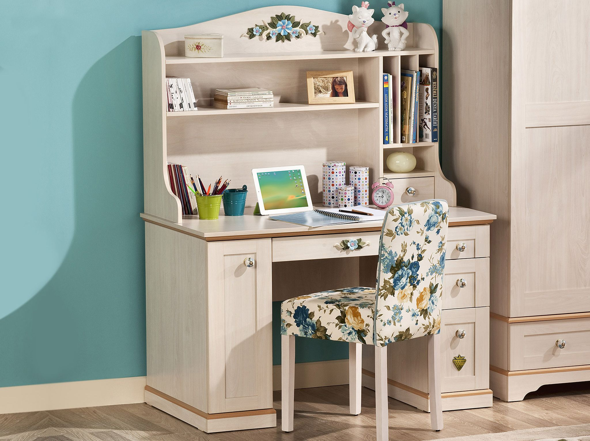 Flora Childrens Desk With Storage