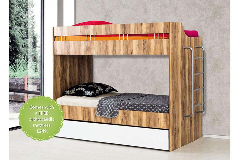 Compact Childrens Bunk Beds With Trundle