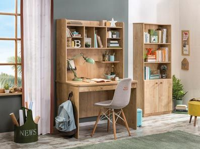 Mocha Children's Desk With Storage