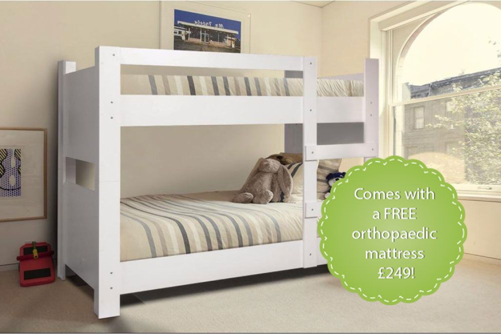 White Childrens Bunk Bed Can Create Miracles For Small Rooms