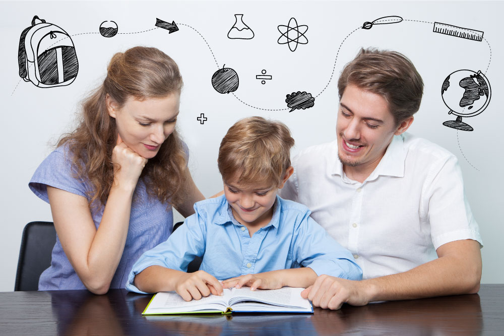 Parents, Children And Homework Triangle