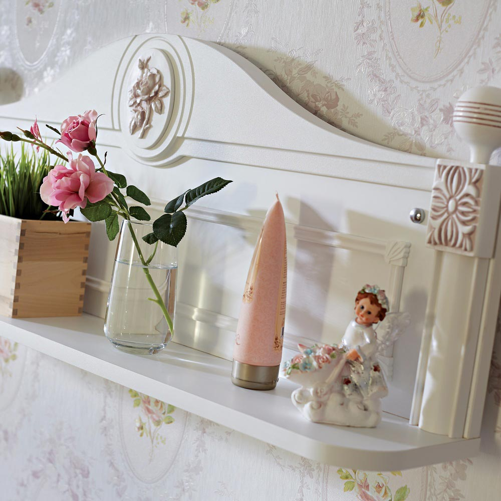 Rose Baby Contemporary Decorative Wall Shelves