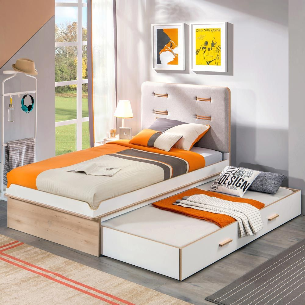 Trendy Single Bed With Trundle
