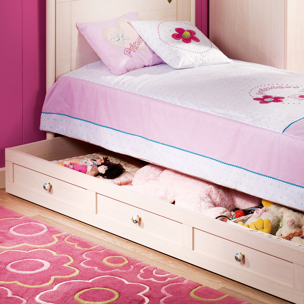 Flora Single Bed With Trundle