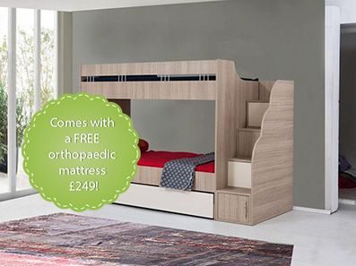 Mediterranean Bunk Beds For Teens With A Trundle