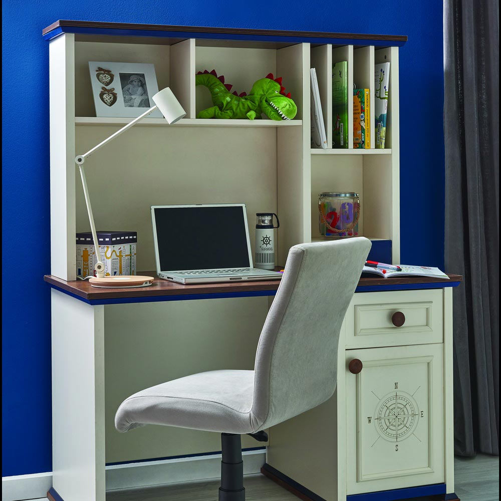 Ocean Contemporary Children's Desk with Storage