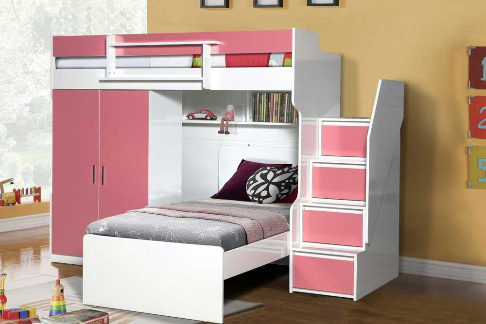 Brave High Sleeper Bed With Wardrobe And Single Bed