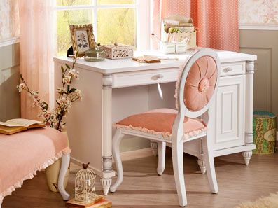 Aesthetic Romantic Girls White Desk