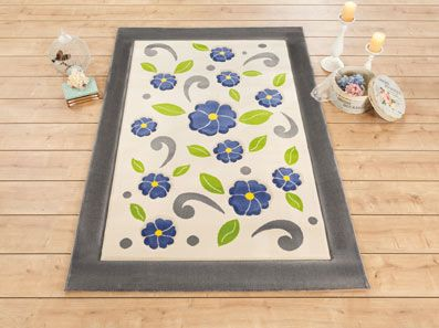 Contemporary Floral Rug
