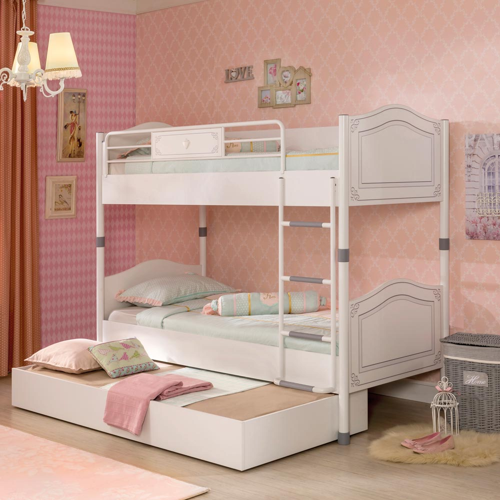 Chic Space Saving Bunk Beds With Trundle
