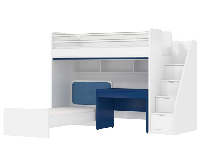 Oxford Loft Bed With Desk And A Children's Bed