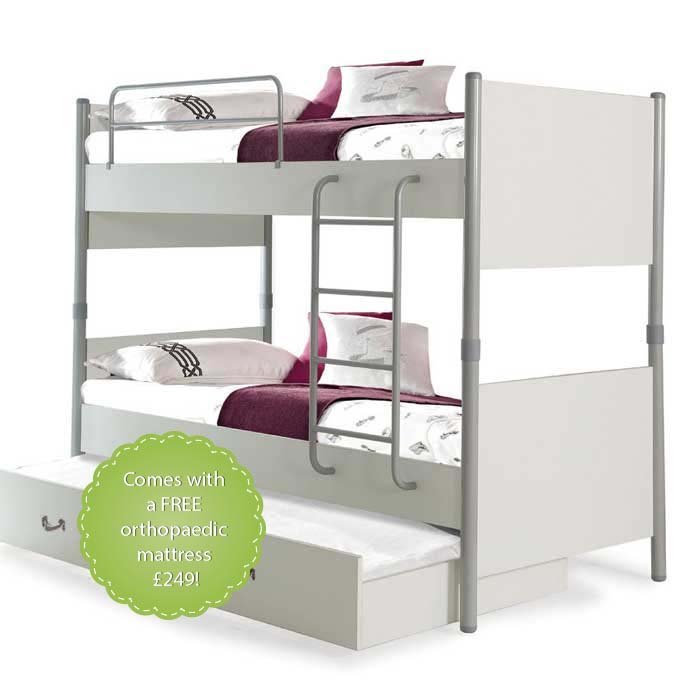 Joyin Bunk Bed with a Trundle Bed