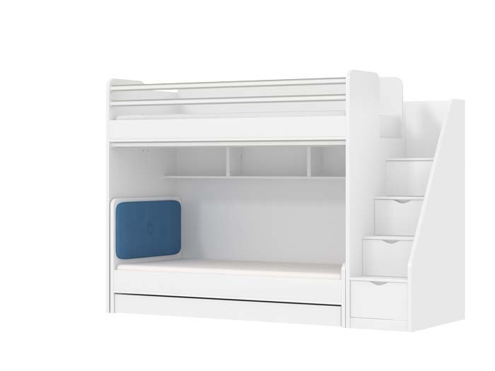 Oxford Loft Bed For Kids With A Childrens Bed And A Trundle Bed