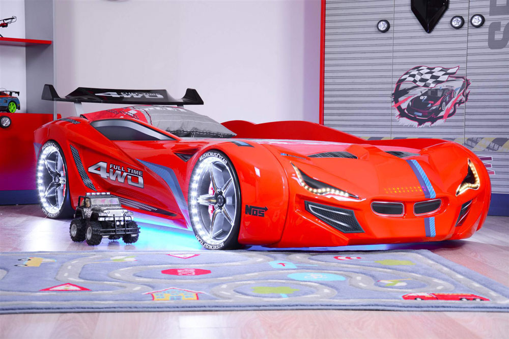 How could a racing car bed unlock a child's creativity and imagination?