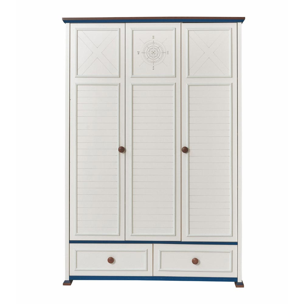 Ocean Contemporary 3 Door Wardrobe White