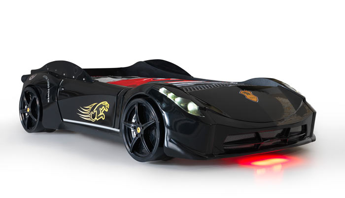 Ferrari Black Car Bed