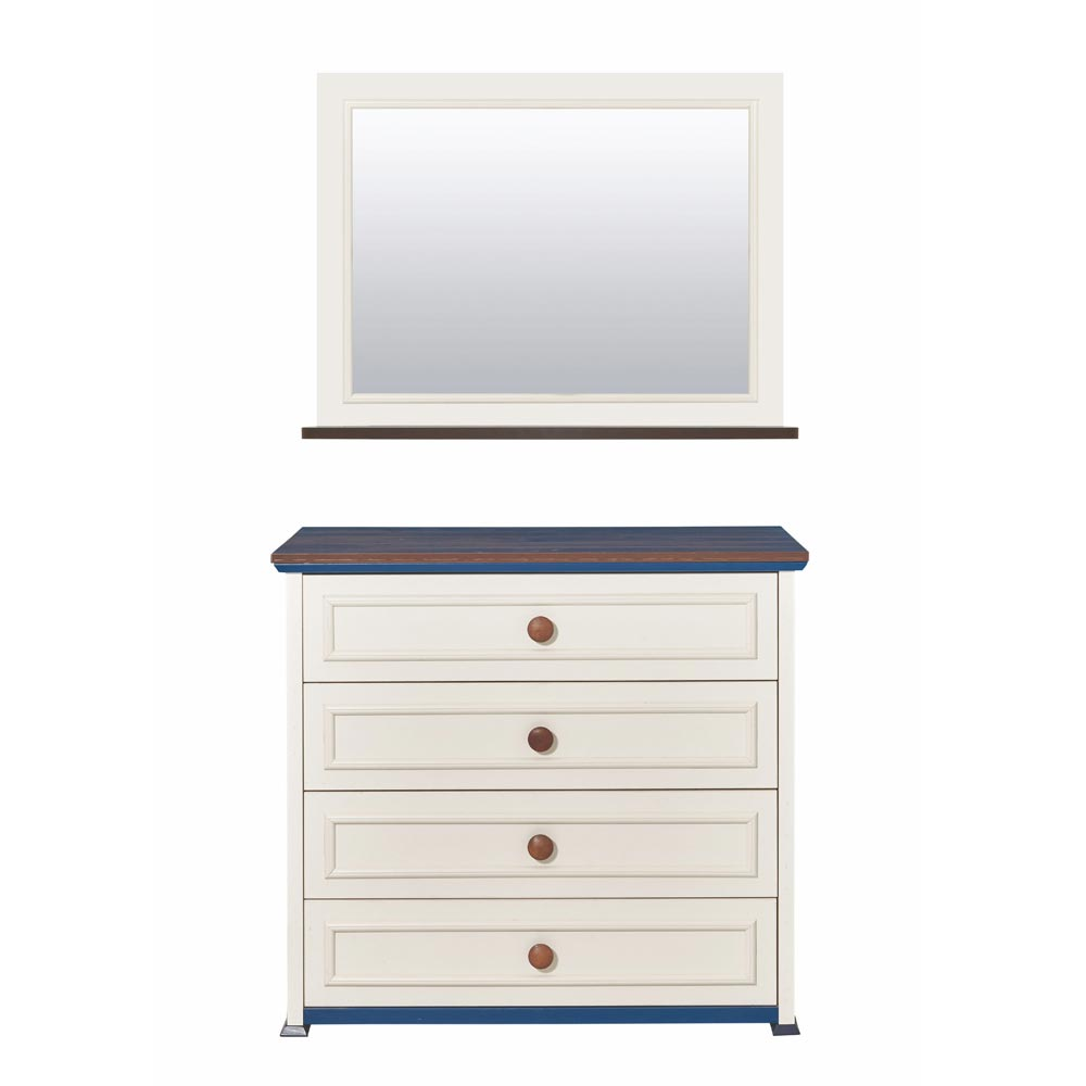 Ocean Bedroom Chest of Drawers with Mirror