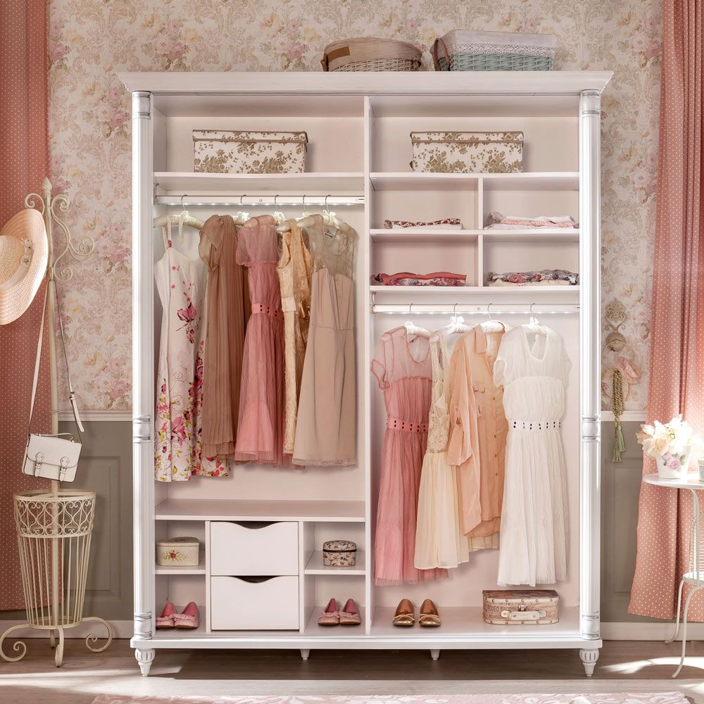 Neat And Adorable Sliding Double Wardrobe