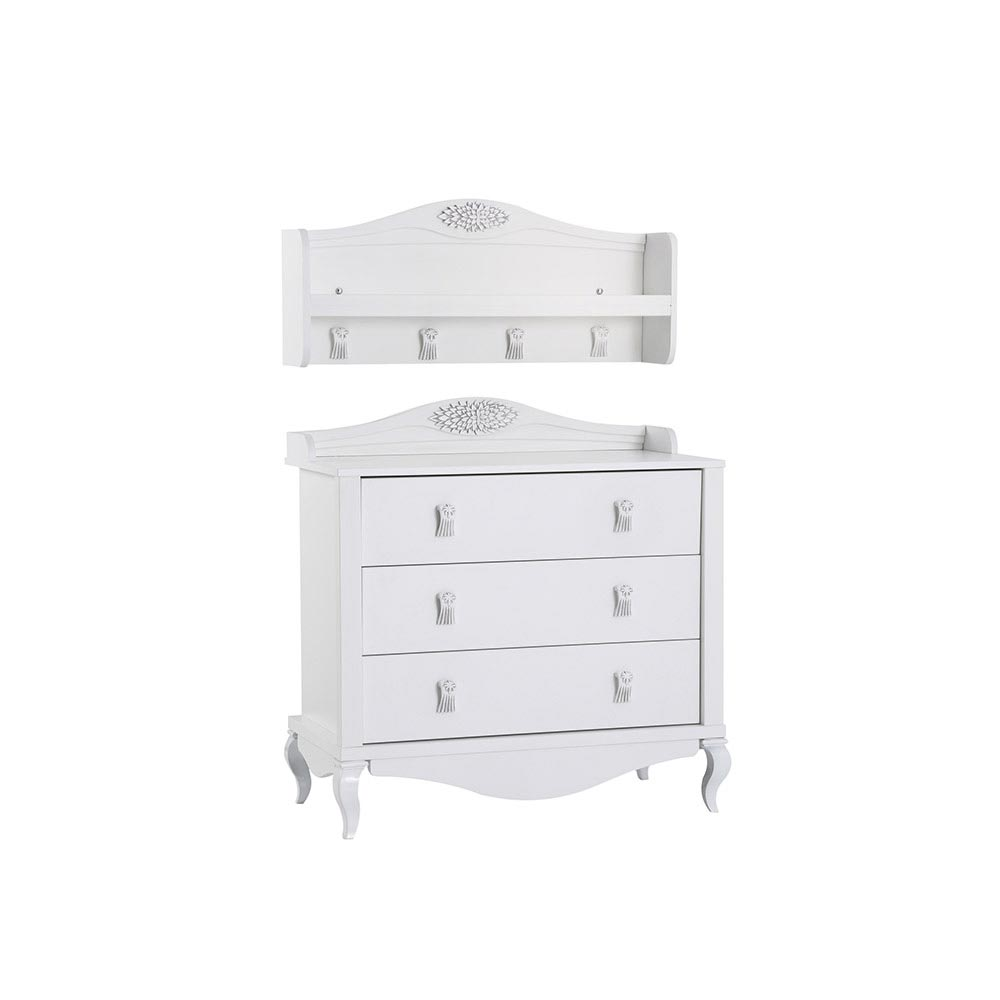 Jasmin Baby Contemporary White Wooden Shelves
