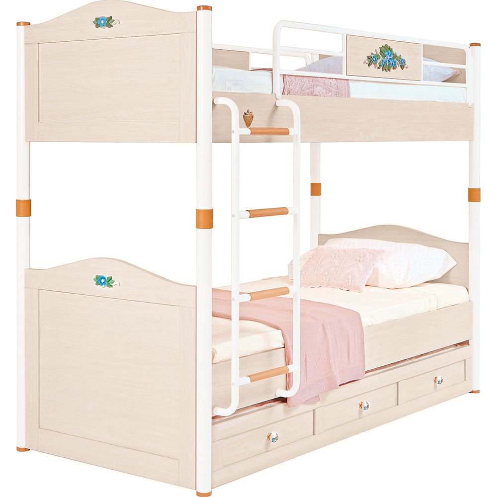 Flora Bunk Beds For Kids With Trundle Bed
