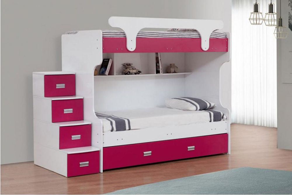 Ivana Bunk Beds For Kids With Stairs