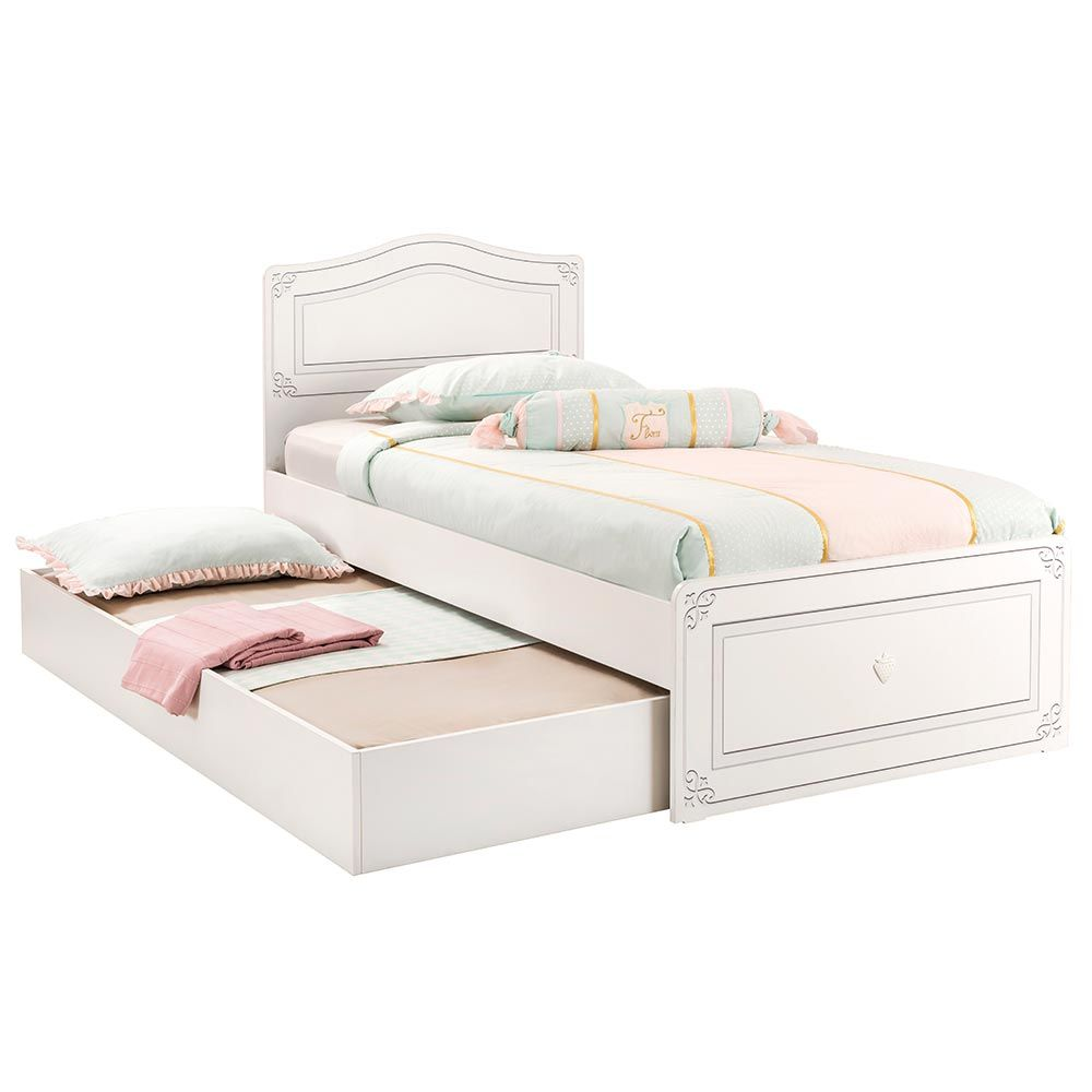 Single Bed With Trundle A Modern Girls Bedroom Furniture