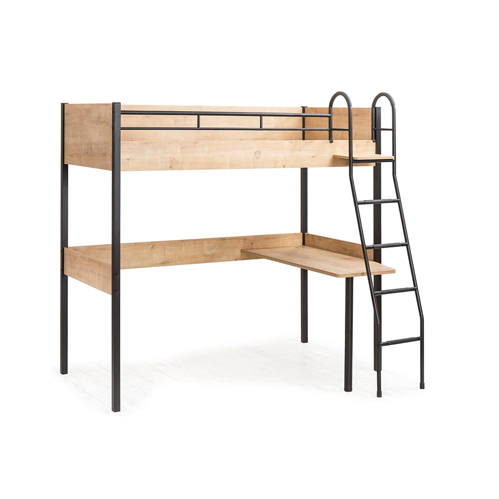 High Bed With Desk Underneath For Boys Bedroom With Small