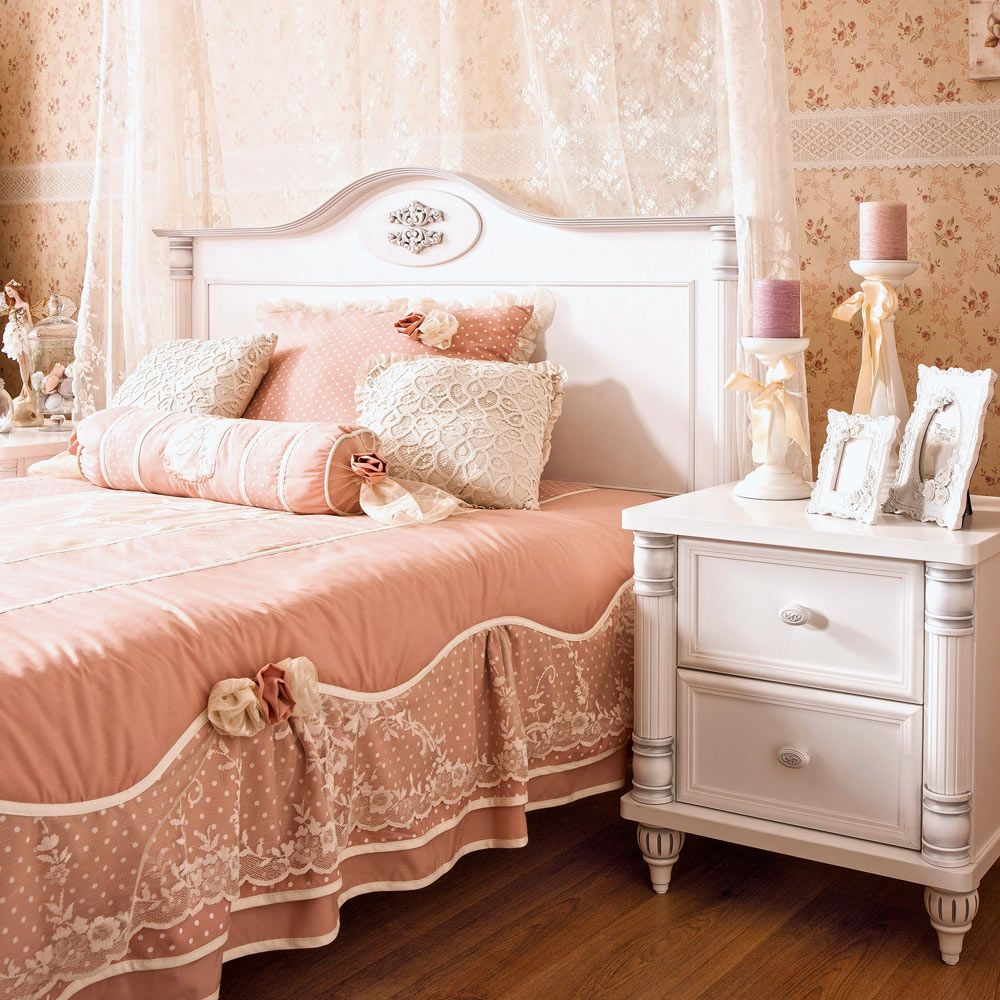 Romantic Sturdy Girls Single Bed