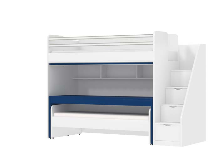 Oxford Loft Bed With Desk And Kids Beds