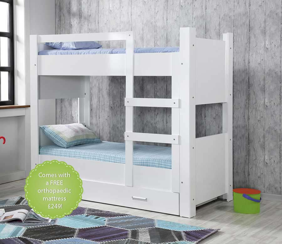 Swan Bunk Bed with a Trundle Bed