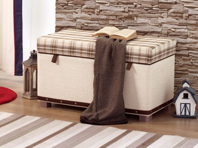 Plaid Classic Storage Ottoman