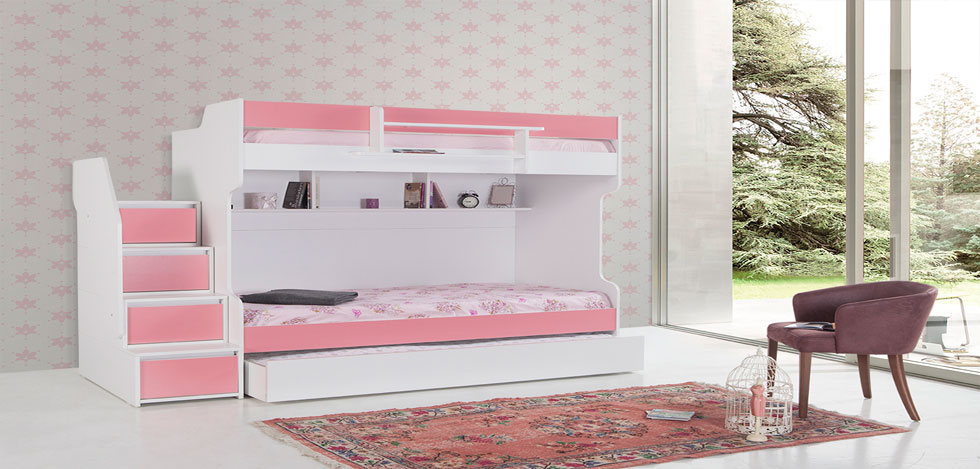 Bunk Beds with a Trundle Bed