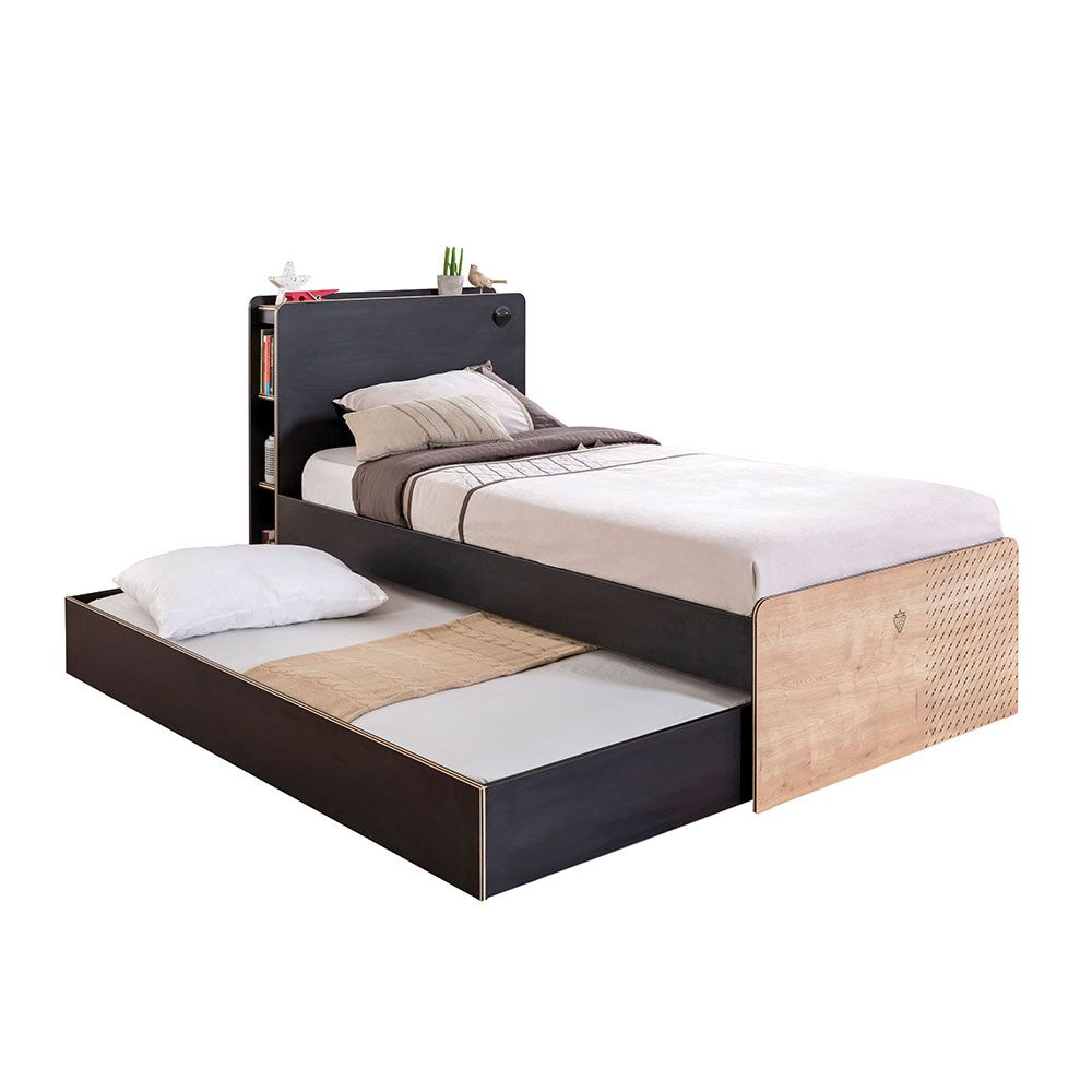Simple And Convenient Single Bed With Trundle