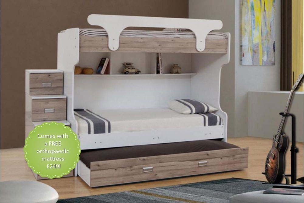 Bunk Beds With Steps And A Trundle Bed