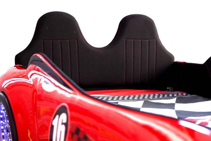 BMW M3 RED KIDS CAR BED with REAR RAISED LEATHER SEATS