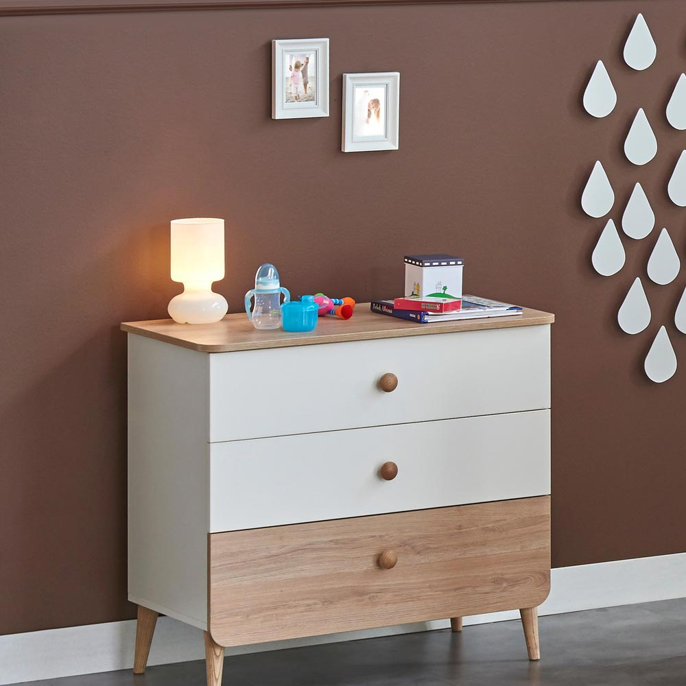 Liva Contemporary Solid Wood Dresser