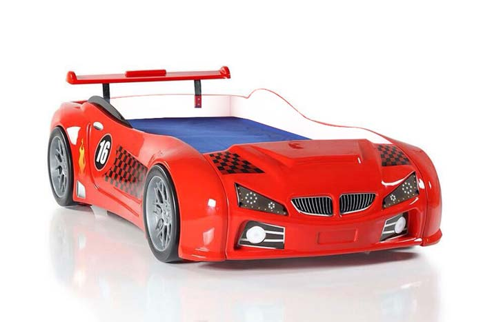 BMW M3 KIDS CAR BED (with LED lights and bulging wings)