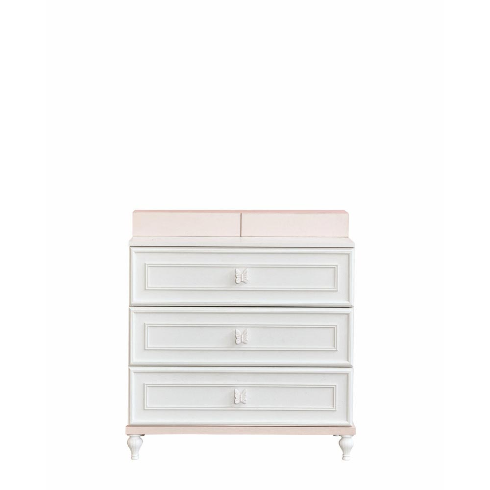Butterfly Contemporary White Dresser