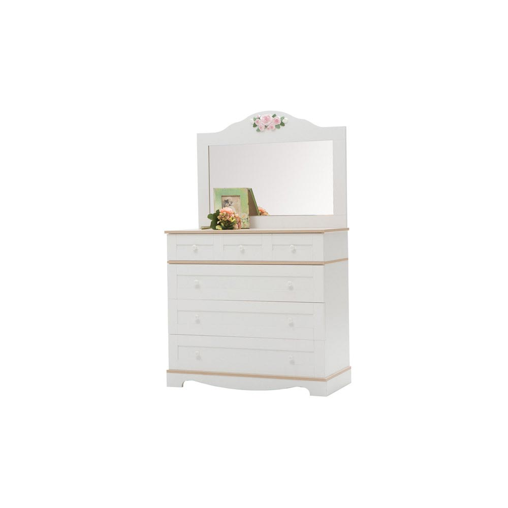 Laura Baby Contemporary Dresser And Mirror