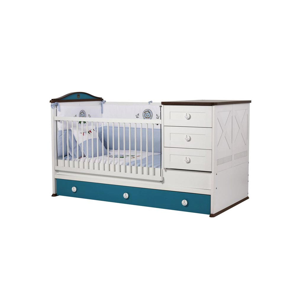 Sailing Contemporary Extendable Nursery Cot Bed